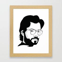 la casa de papel tee sirt EL PROFESOR Framed Art Print