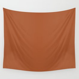 Clay Solid Deep Rich Rust Terracotta Colour Wall Tapestry