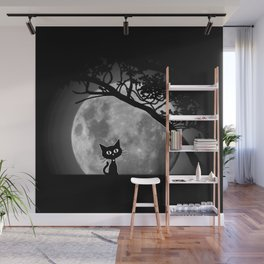 Moon Kat Wall Mural