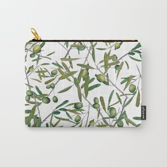 olive pattern Carry-All Pouch
