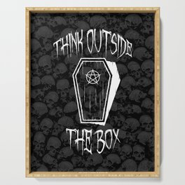Think Outside The Box Goth Coffin Humour Serving Tray