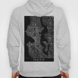Seattle Black Map Hoody