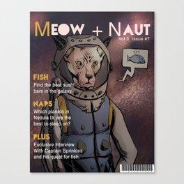 Meow Naut Print 02 Canvas Print