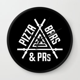 Pizza, Bars and PRs Wall Clock