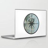 compass Laptop & iPad Skins featuring Compass by madbiffymorghulis