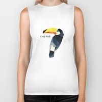 toucan Biker Tanks featuring Toucan by LeelyMcfly