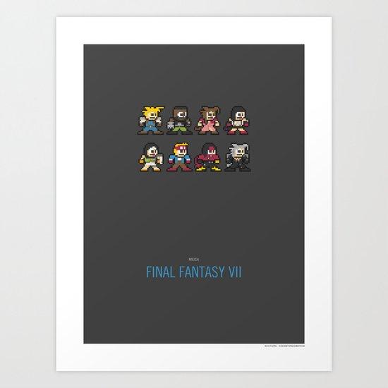 Mega Final Fantasy VII Art Print