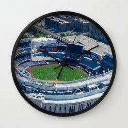 Yankee Stadium From Above Wall Clock
