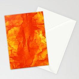 Microcosmos Rojo Stationery Cards