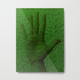 Hand grass Metal Print