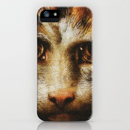Cat in the art - Giuio Romano – the lady with the cat iPhone Case