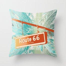 Wherever Route 66 Takes You Throw Pillow
