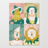 oz Canvas Prints featuring Oz by StinkyInky_Jess