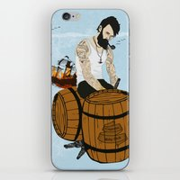 moby iPhone & iPod Skins featuring Captain Moby by Napa