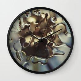 Gold water patterns Wall Clock