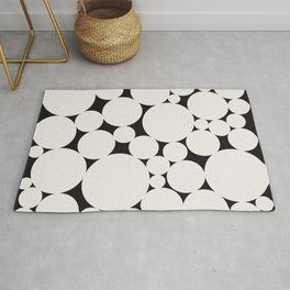 Circular Collage - Black & White II Rug