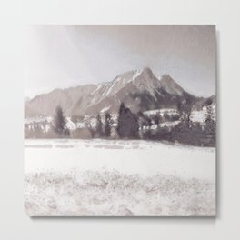 Winterly Landscape II Metal Print