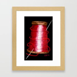 deep red Framed Art Print