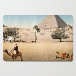 Vintage Pyramid : Grand Pyramid Gizeh Egypt 1895 Cutting Board