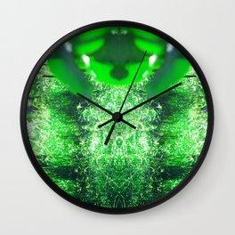 Diamond Orbs of Emerald Wall Clock