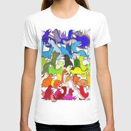 Rainbow Dinosaur Gradient T-shirt