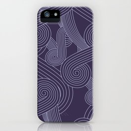 Quarian Swirls iPhone Case