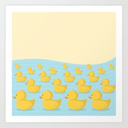 Rubber Duckie Army Art Print