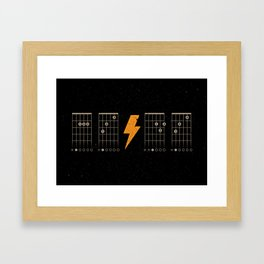 ACDC Back in Black Framed Art Print