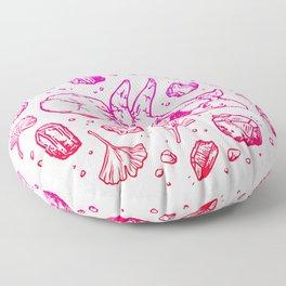 Triceratops Rocks! | Fiery Pink Ombré Floor Pillow