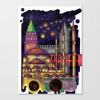 istanbul Canvas Prints featuring Istanbul  by Aleksandra Jevtovic