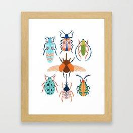 Patterned Beetles Framed Art Print