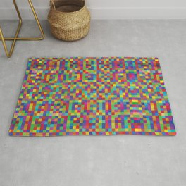 Abstract Pixel Grid #1 Rug