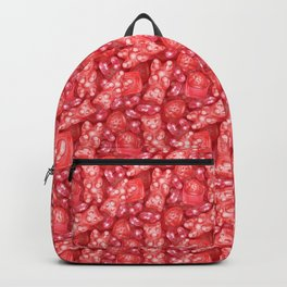 Red is My Favorite Flavor - delicious gummy bears, fruit chews, strawberries and jelly beans Backpack
