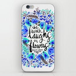 The Earth Laughs in Flowers – Turquoise & Blue iPhone Skin