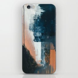 Vienna: a minimal, abstract mixed-media piece in pinks, blue, and white by Alyssa Hamilton Art iPhone Skin