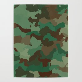 Forest camoflauge pattern Poster