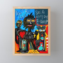 Don't be Evil Street Art Graffiti Framed Mini Art Print