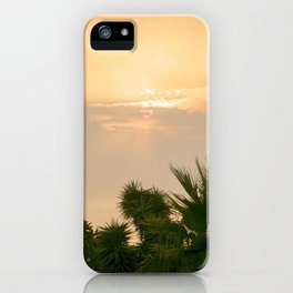 cloudy sky in the oasis iPhone Case