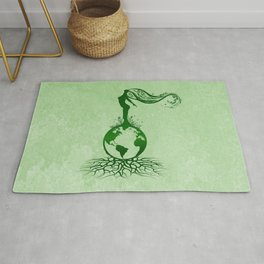 Mother Earth Day - Grunge Green 02 Rug