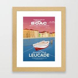 Lefkada, Western Waterfront Framed Art Print