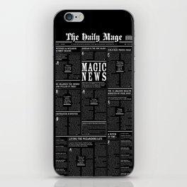 The Daily Mage Fantasy Newspaper II iPhone Skin