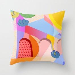 Summer Side Throw Pillow