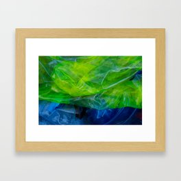 plastic yellow and blue Framed Art Print