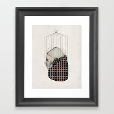 Pattern Girl Framed Art Print