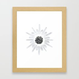 Prosperity Crystal Grid Framed Art Print