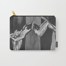 Hanging by a Thread Black and White Carry-All Pouch