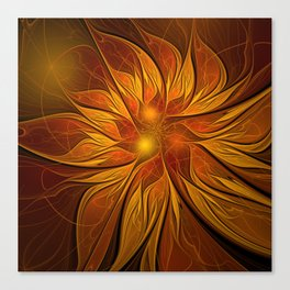 Fractal Flower - Red Canvas Print