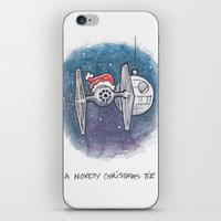 novelty iPhone & iPod Skins featuring A Novelty Christmas TIE by CameronKimJones