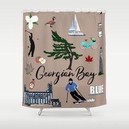 Images of Georgian Bay - Tan Shower Curtain