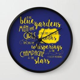 Blue Gardens Wall Clock